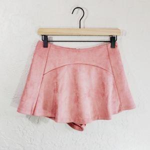 LF Seek the Label Pink Suede Skort Small